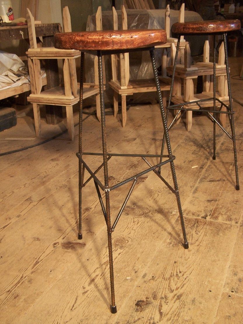 Buy Hand Made Extra Tall Reclaimed Wood Bar Stools With