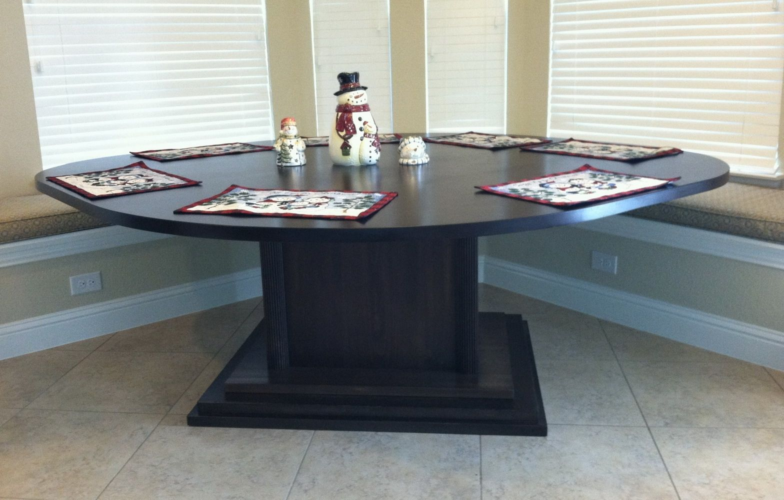 Hand Made Kitchen Area Table For Corner Bench Seating By
