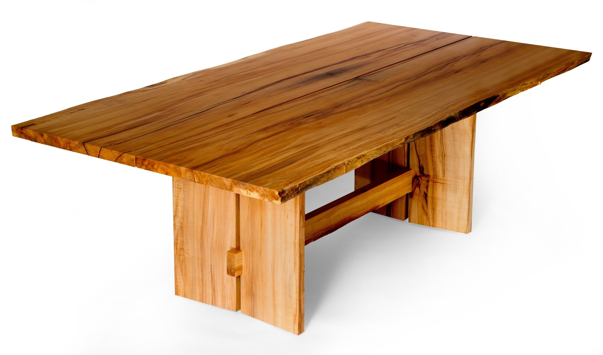 Hand Made Live Edge Slab Maple Dining Table By J Holtz