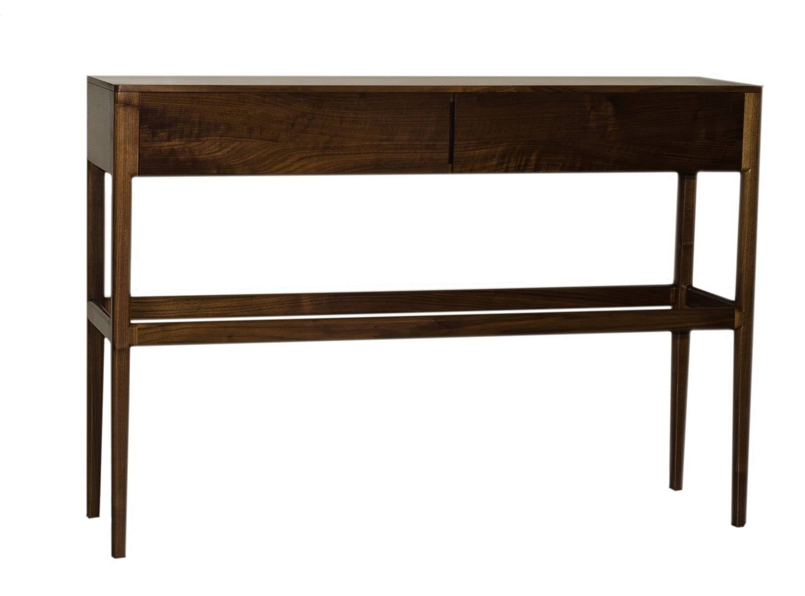 custom danish mid century modern style console table with. Black Bedroom Furniture Sets. Home Design Ideas