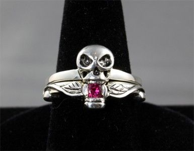 Custom Made Skull Wedding Ring Set