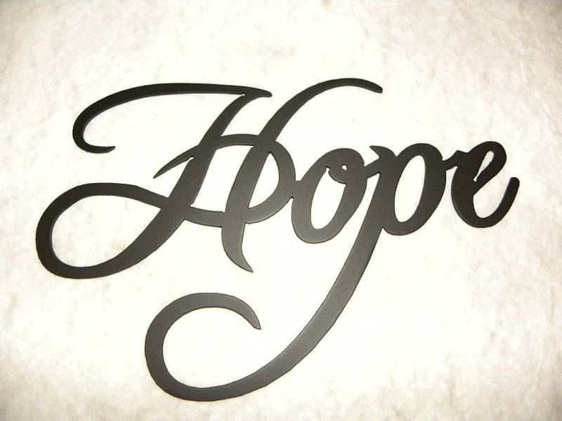 Handmade Hope Word Home Decor Metal Wall Art By Say It All