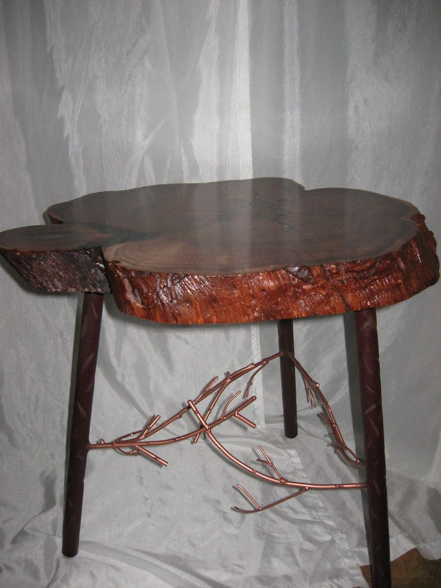 Custom Live Edge Mesquite End Table By Hummels Custom