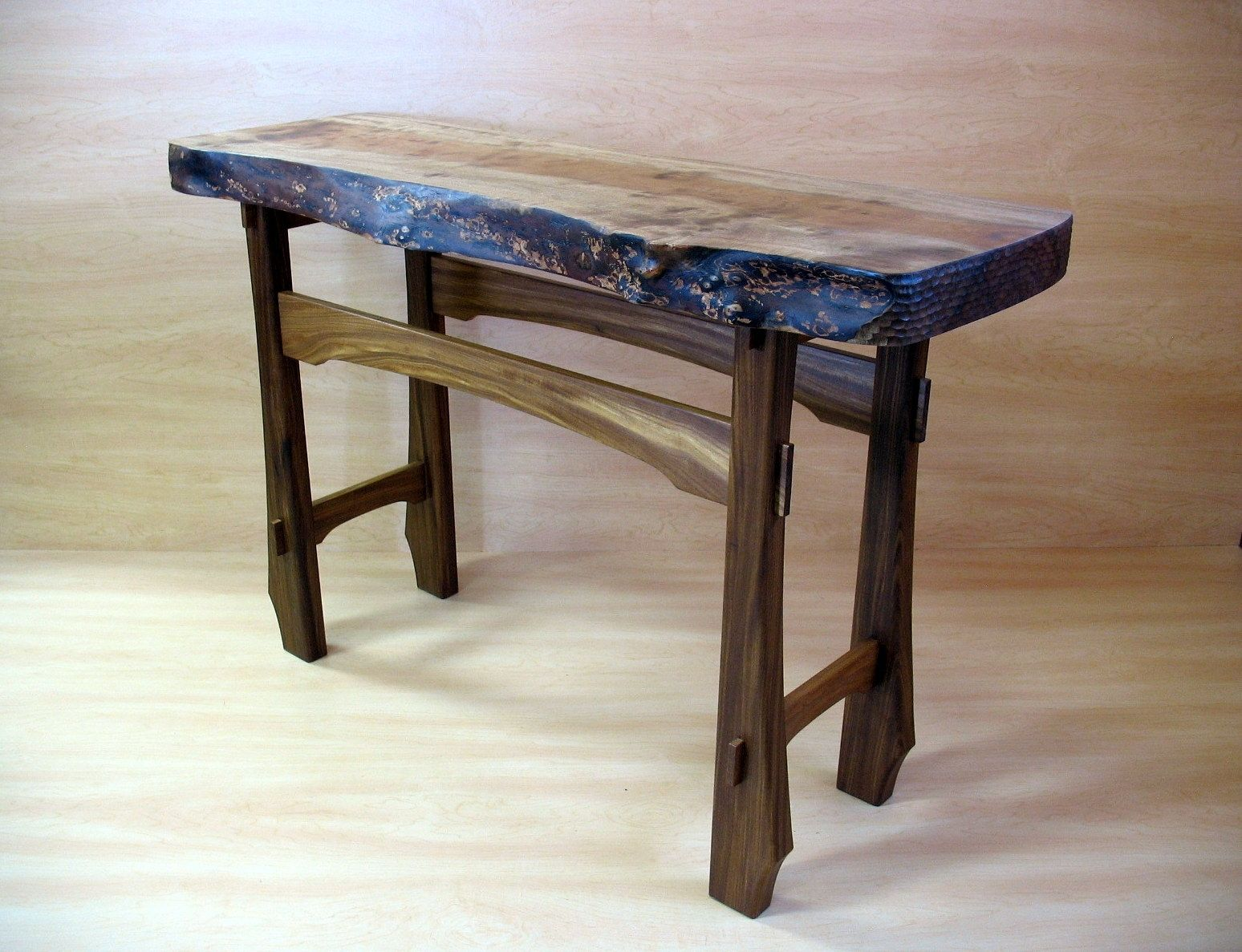 Hand crafted live edge foyer table by mike bartell - Table vitroceramique 2 foyers ...
