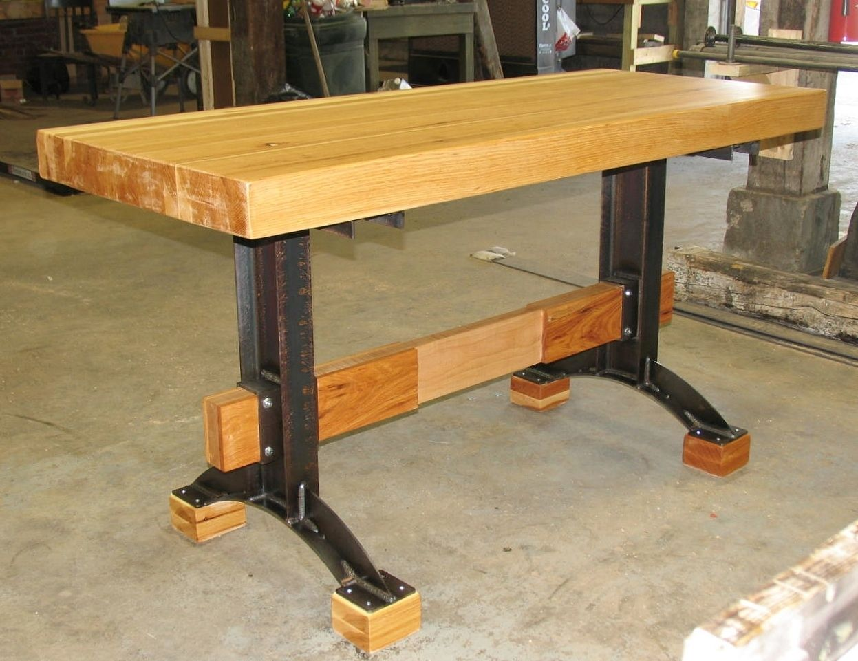 Hand Made Industrial Farmhouse Rustic Minimalist Hickory