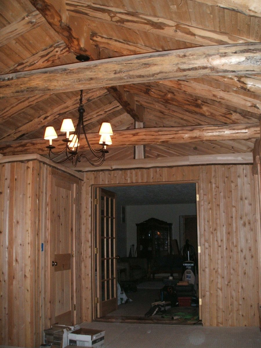 Hand made log cabin project by sanford customs for Log cabin project