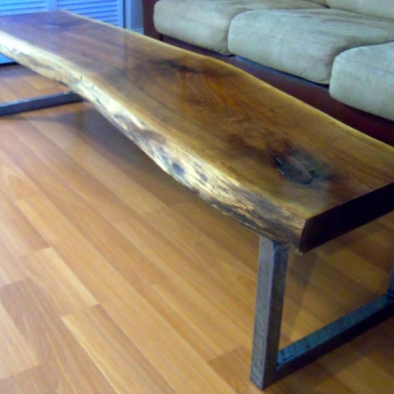 Live Edge Square Coffee Table