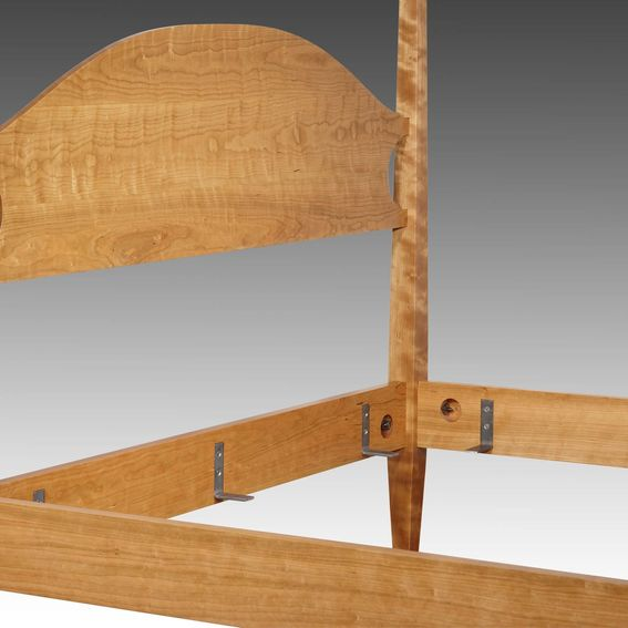 Antique Pencil Post Rice Bed Gray White And Copper Bedroom: Custom Shaker Style Pencil Post Bed By Jg Custom Furniture