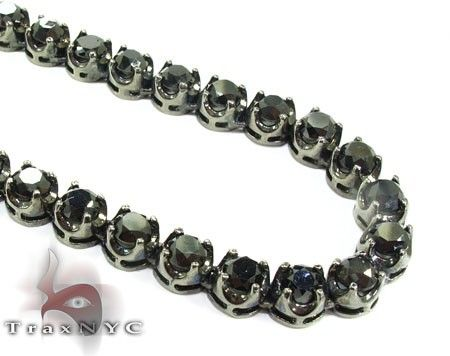 Custom Made Black Diamond Chain 32 Inches 7mm 98.8 Grams 96.00 Ct