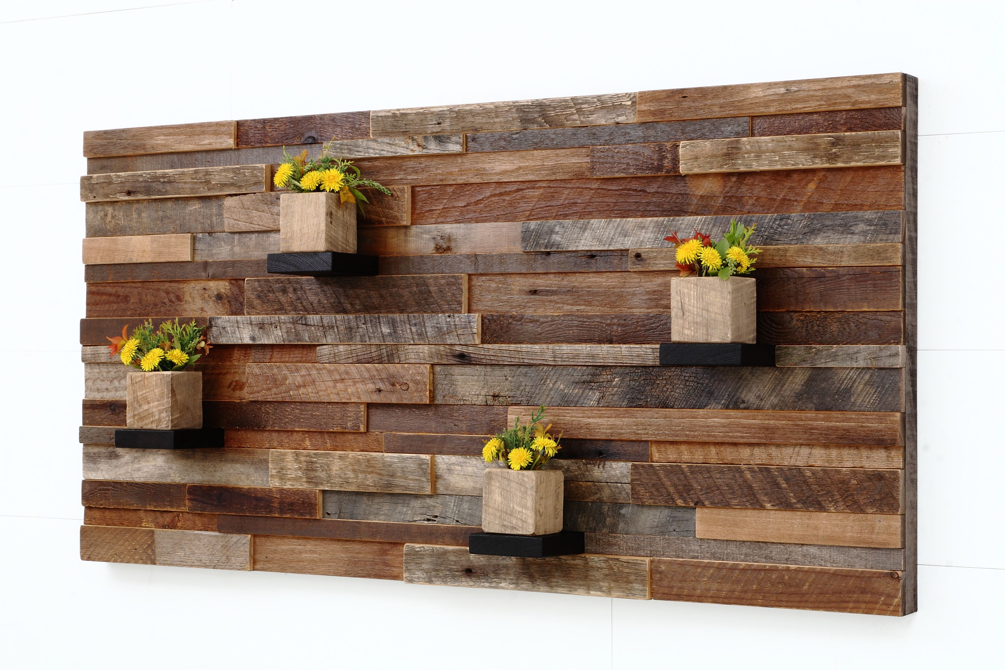 Personalized Wood Wall Decor : Handmade wood wall art with shelves by