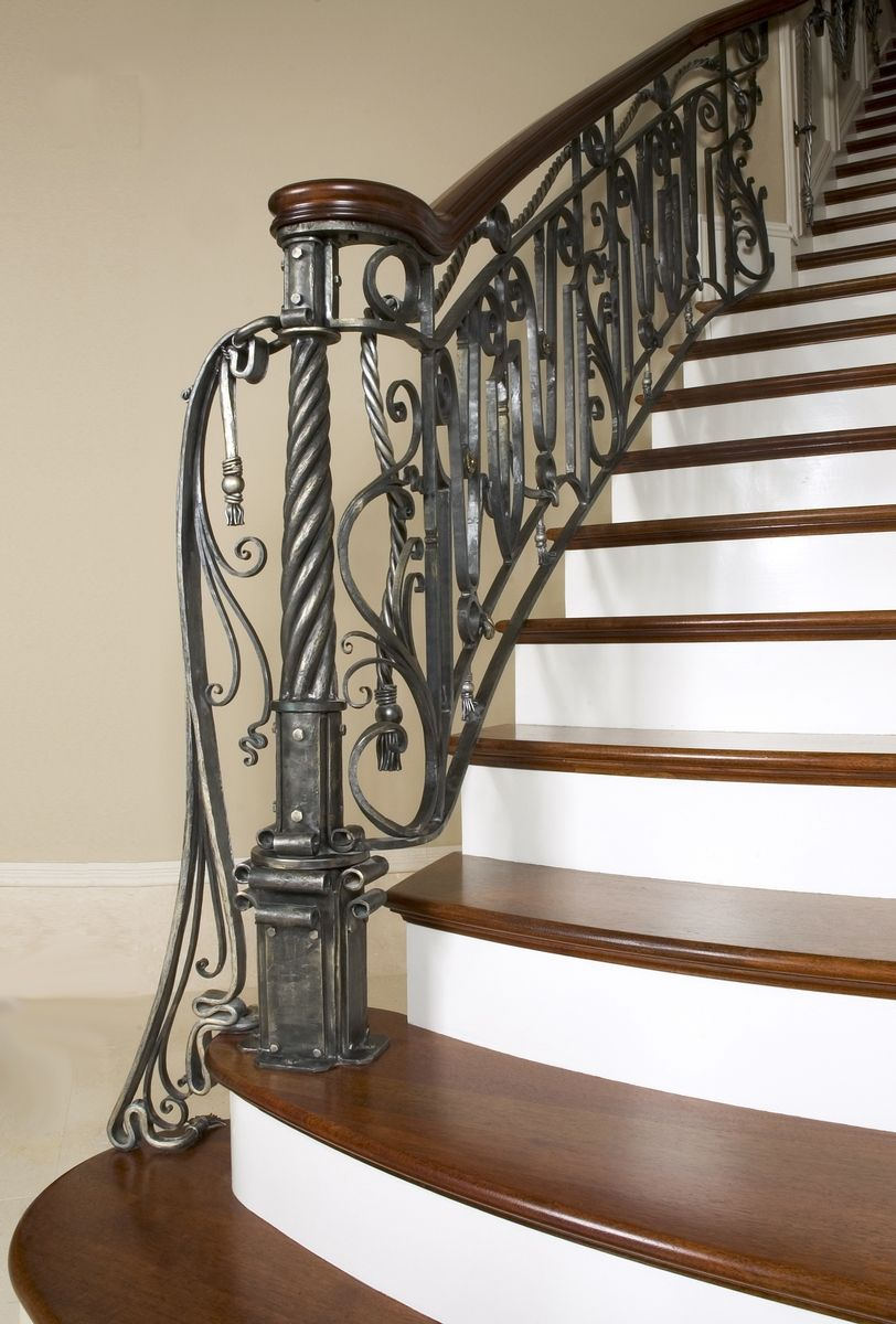 Hand Made Unique Interior Railing By Maynard Studios