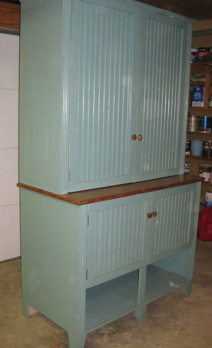 Hand Crafted Over Sized Step Back Cupboard By The Farm At Spring Creek