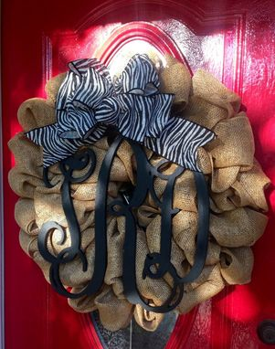 Custom Made Initial Burlap Wreath