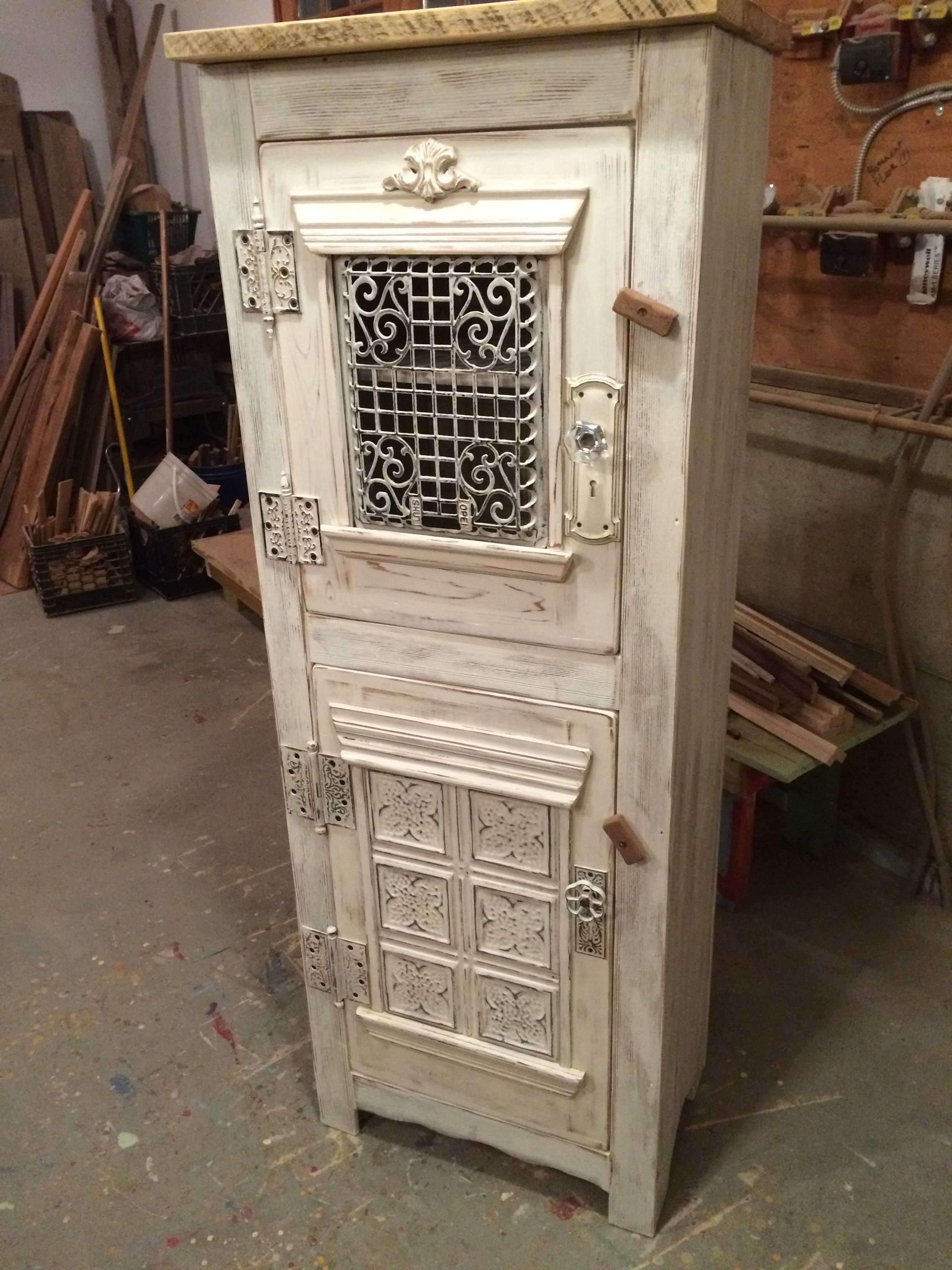 Hand Made Steampunk Clothing Linen Cupboard Antique