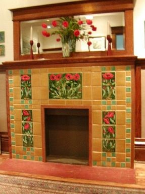 Custom Made Poppy Fireplace