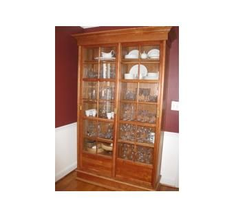 Custom Made Solid Cherry China Cabinet