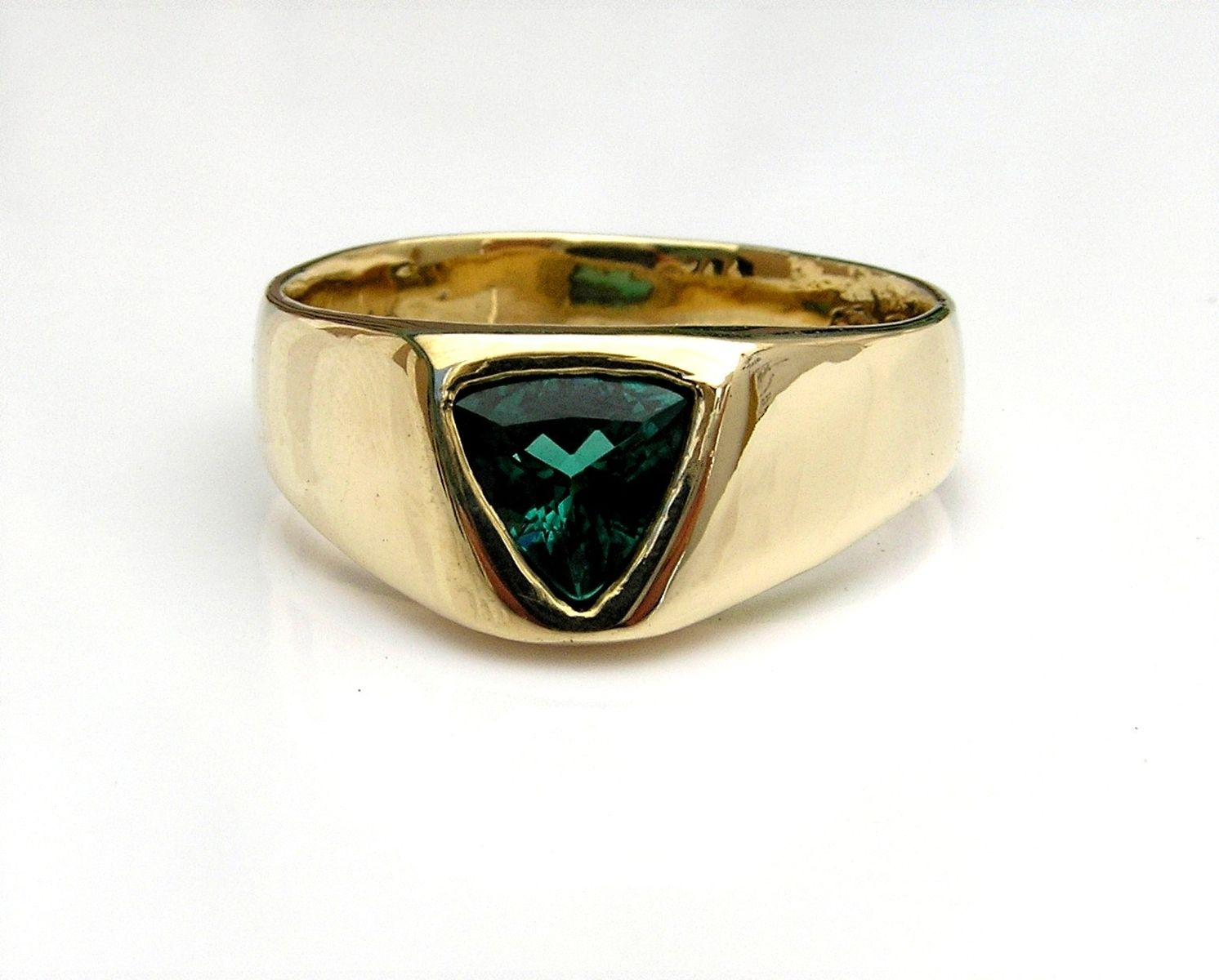 Custom Made Men S Blue Tourmaline Ring In 14k Gold By Evb