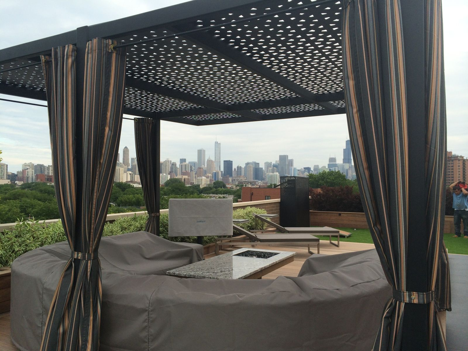 Hand crafted aluminum pergola screening 20 39 x 20 39 custom design by ae - Pergola aluminium en kit ...