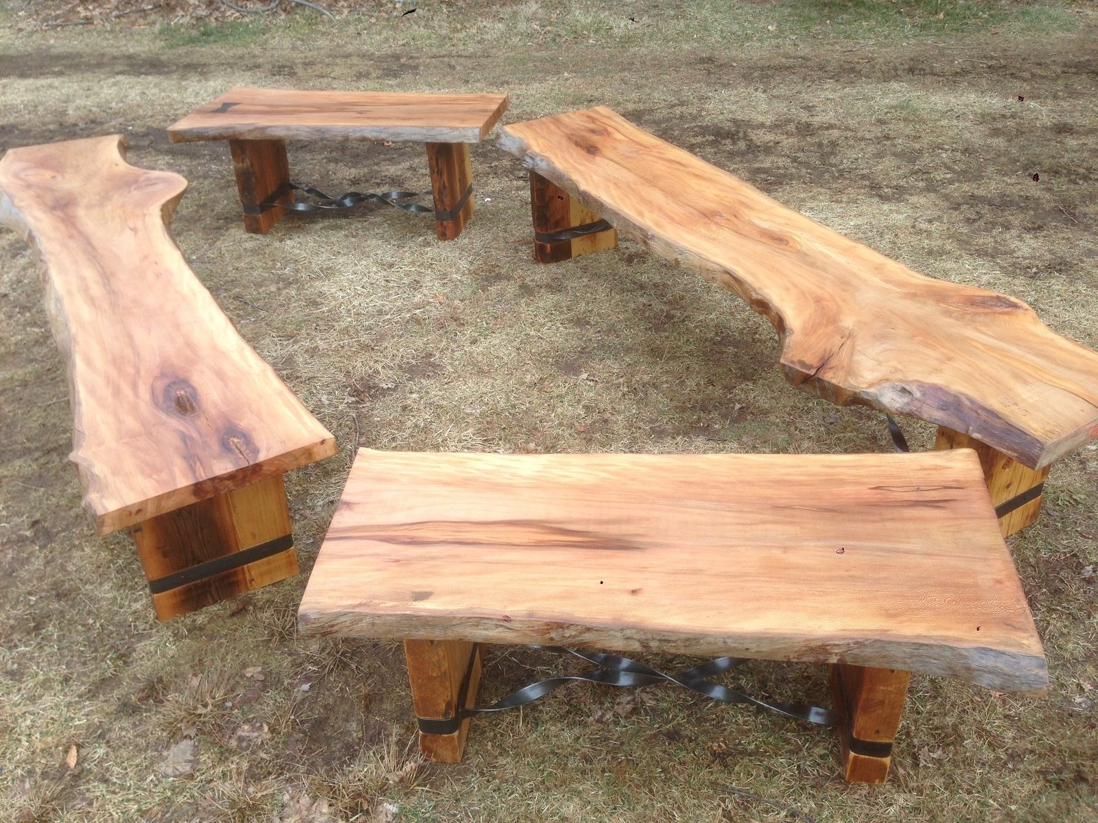 Hand Crafted Slab Benches By Endless Design CustomMadecom