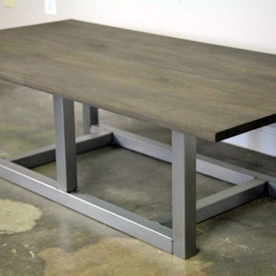 Industrial Unique Metal Designer Coffee Table: Hand Crafted Modern Industrial Coffee Table. Steel & Wood