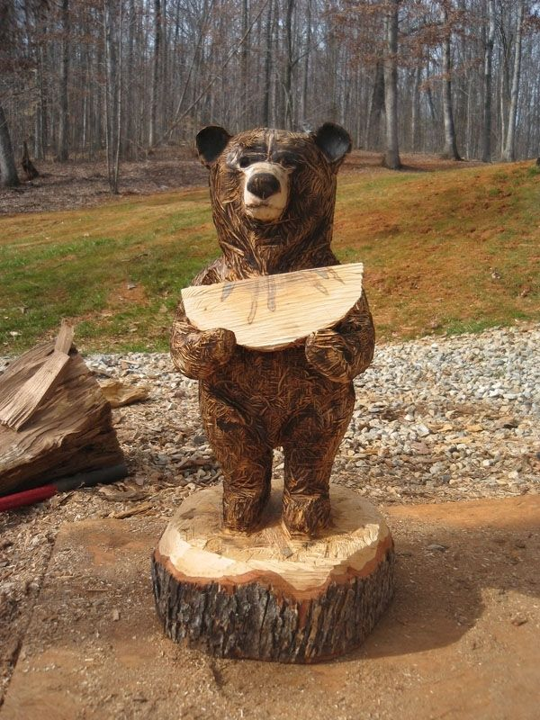 Hand Crafted Rustic Chainsaw Bears By Sleepy Hollow Art