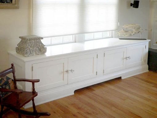 Custom Made Entertainment Center/Window Seat