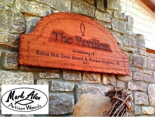 Custom Made Hand Carved Sign