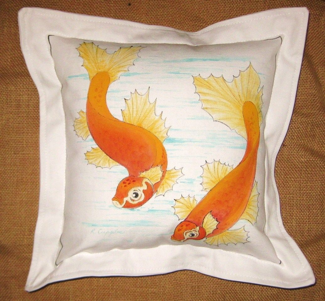Custom hand painted throw pillows by bekart studio for Hand painted pillows