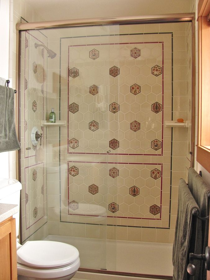 Hand Crafted Custom Bath Remodel Tile Shower Surround