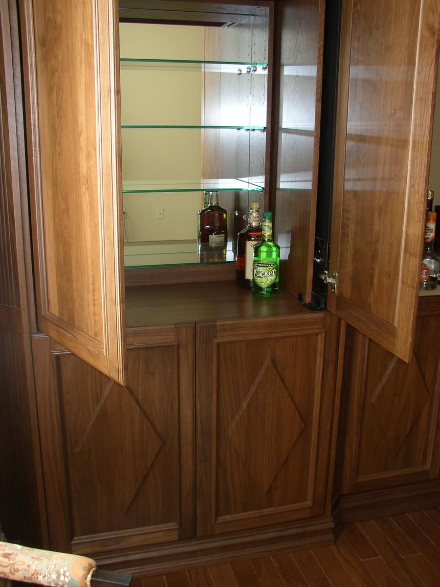 Hand Crafted Bar Liquor Cabinet By Hudson River Woodworks