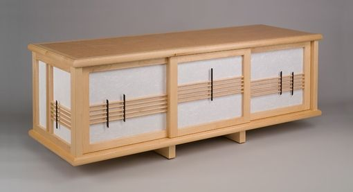 Custom Made Bird's Eye Maple Sideboard