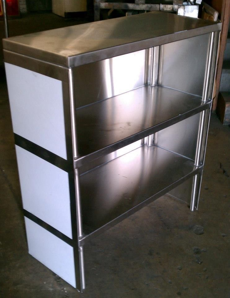 hand crafted stainless steel shelf by affordable solution. Black Bedroom Furniture Sets. Home Design Ideas