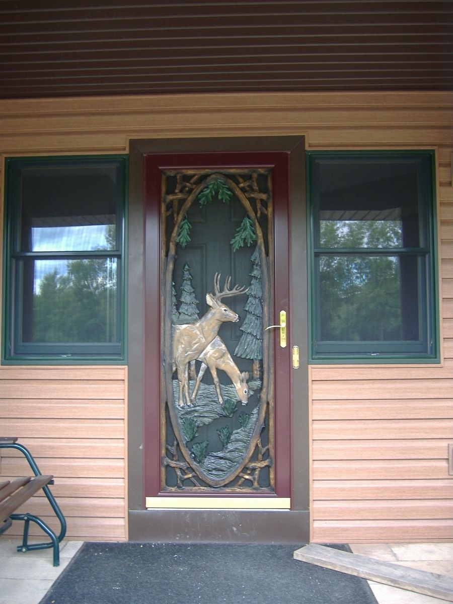 Doors Design: Hand Crafted Storm Door Inserts By Boards To Branches