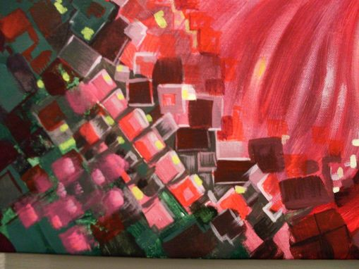 Hand Crafted Pixelated Hibiscus Painting Floral Commission