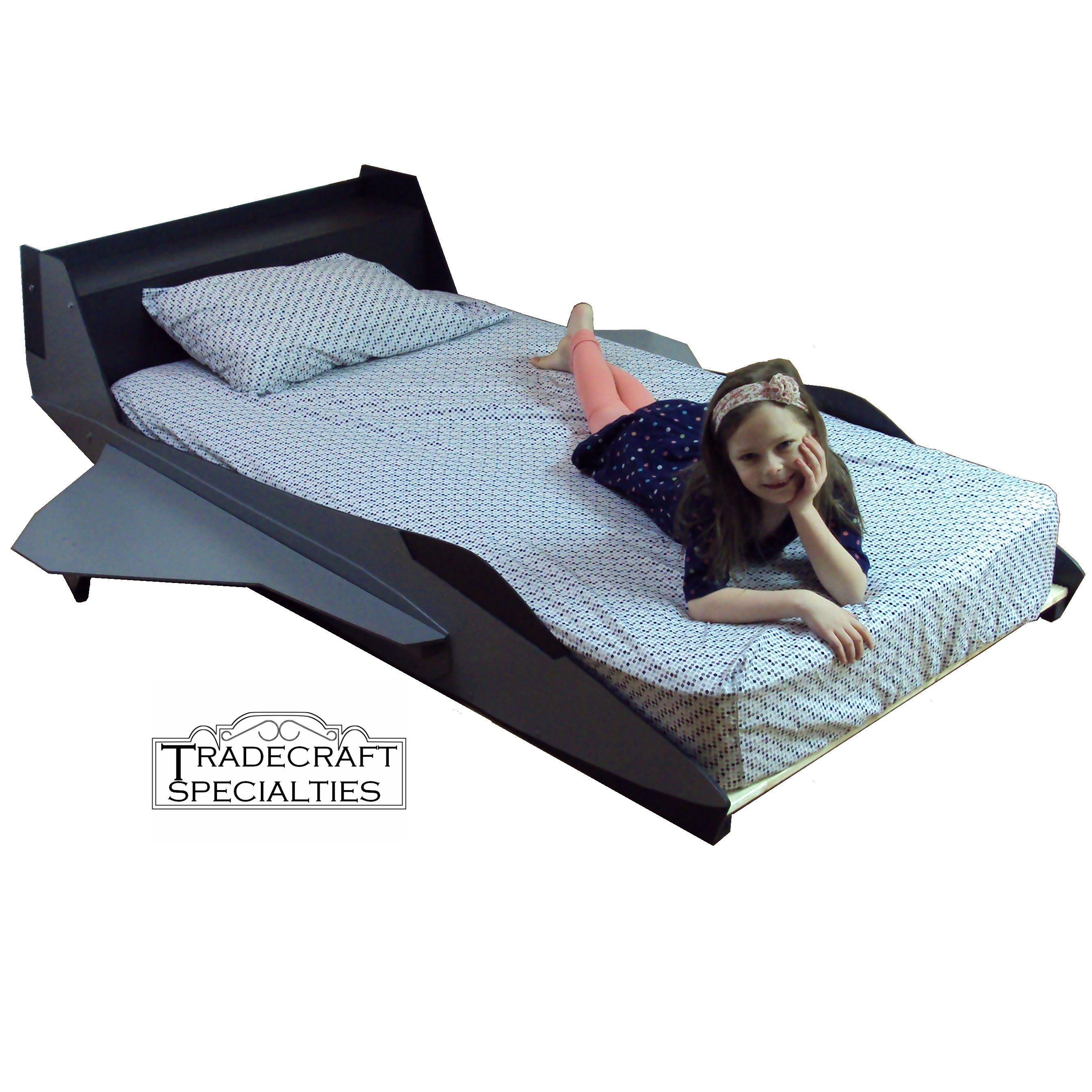 Buy a handmade fighter jet twin kids bed frame for Airplane bed frame