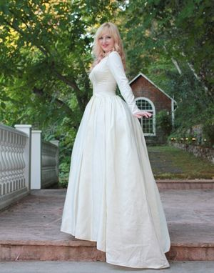 Custom Vintage 1950s Silk Satin Wedding Dress Princess