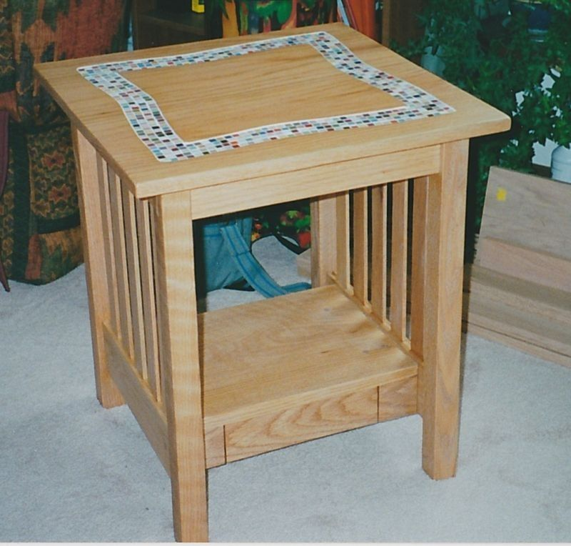 Wood For Coffee Table Top: Handmade Tile Top Coffee Table And End Table By Kinderling