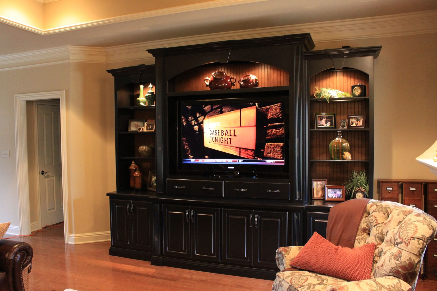 Handmade Entertainment Center By Walters Cabinets Inc