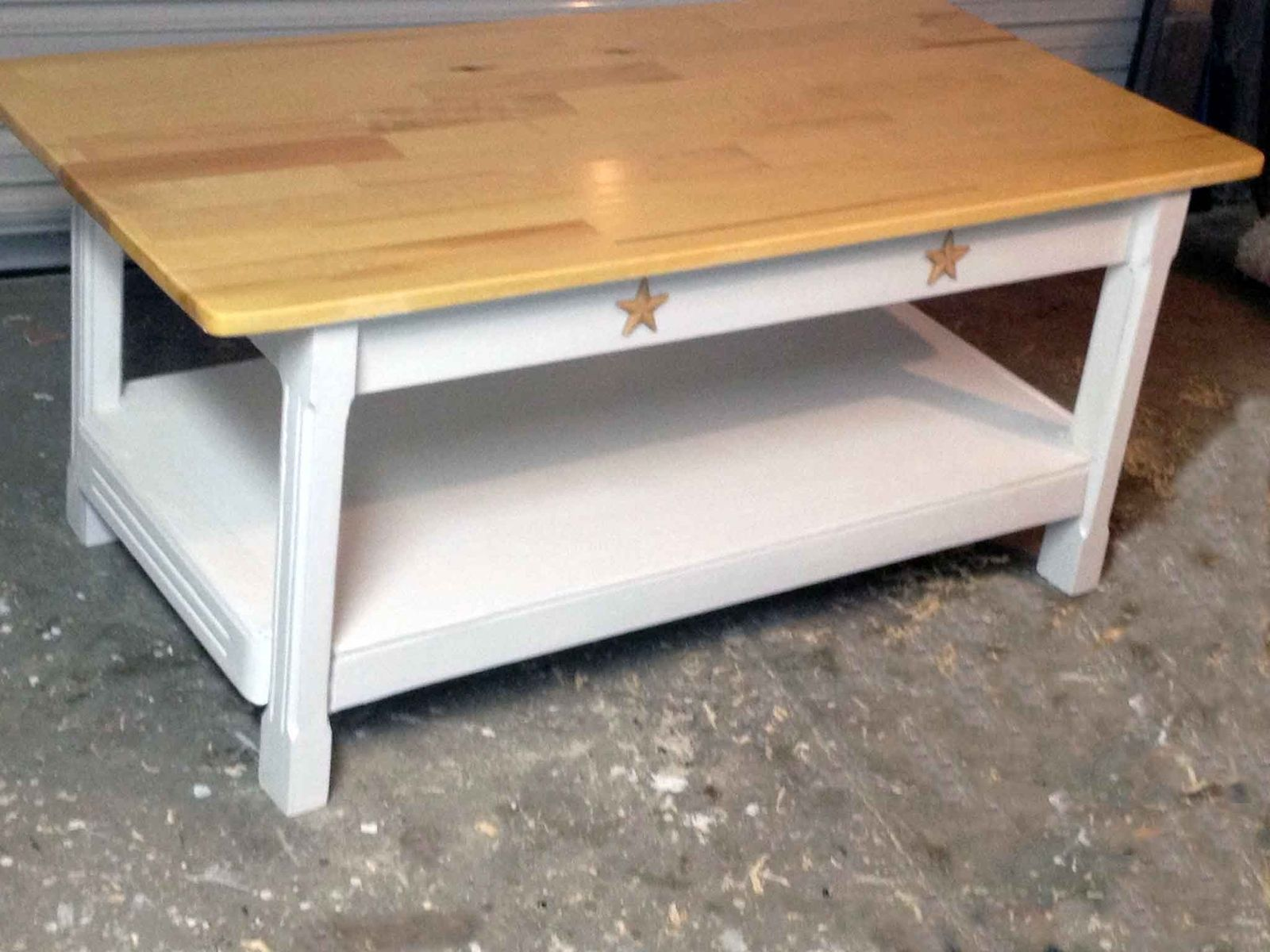 custom country style coffee table by all solid wood. Black Bedroom Furniture Sets. Home Design Ideas