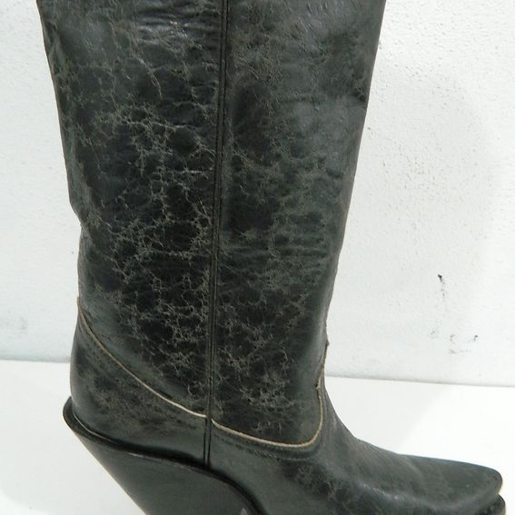 Hand Crafted 22 Inch Tall Cowboy Boots With 4 Inch Extreme