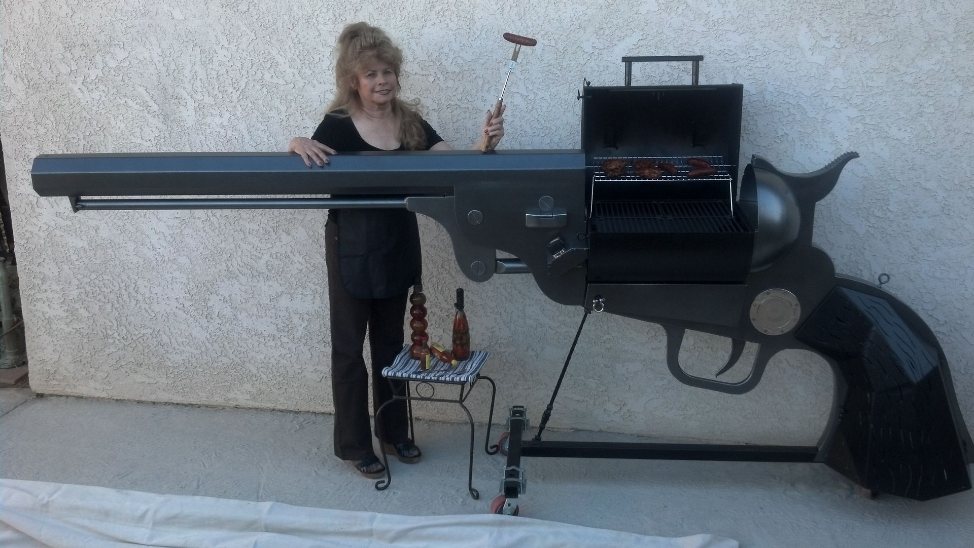 Hand Made 1851 Colt 36 Cal Navy Dragoon Handgun Bbq Grill By Rlm Creations Custommade Com