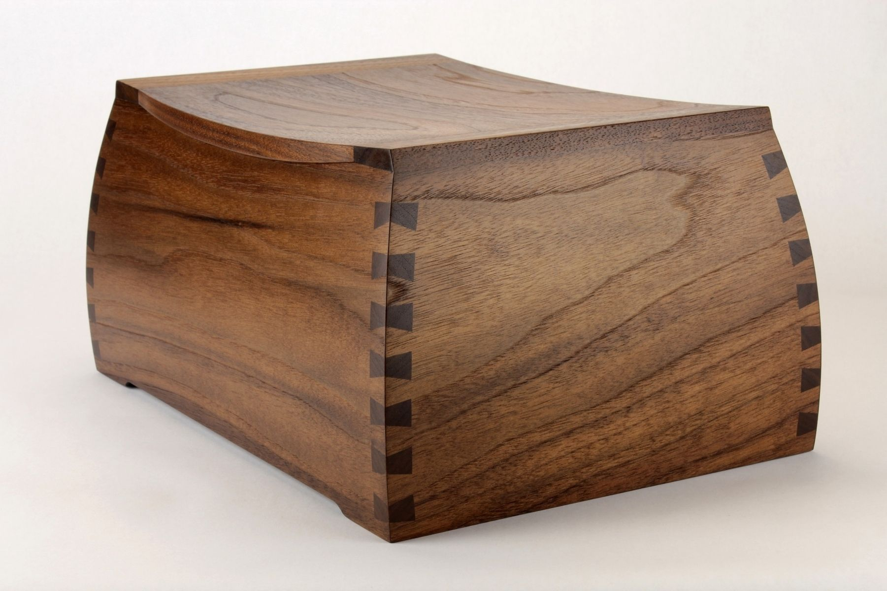 Hand Made Black Walnut Curved Dovetail Urns By Brian
