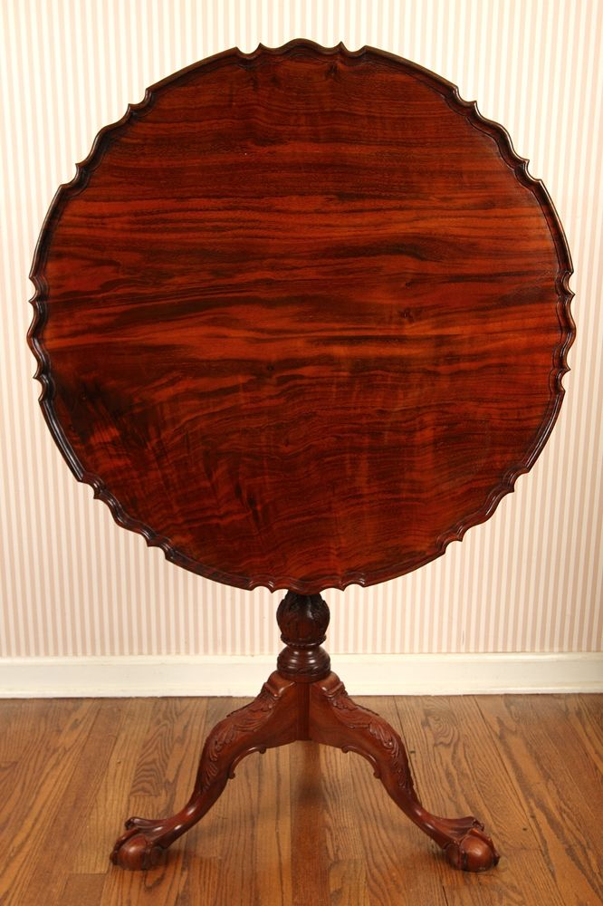 Hand Made Walnut Pie Crust Tea Table In The Philadelphia