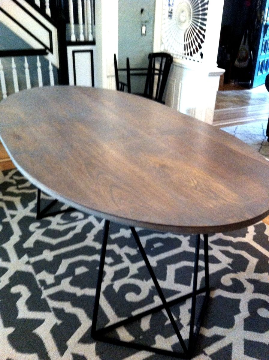 Oval White Oak Extension Table, Handmade Hardwood Furniture Design Table