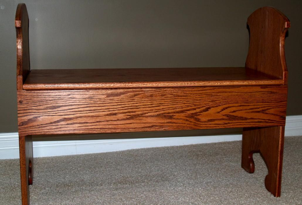 Hand Made Mission Style Hallway Bench By Cannon Custom Woodworking Llc