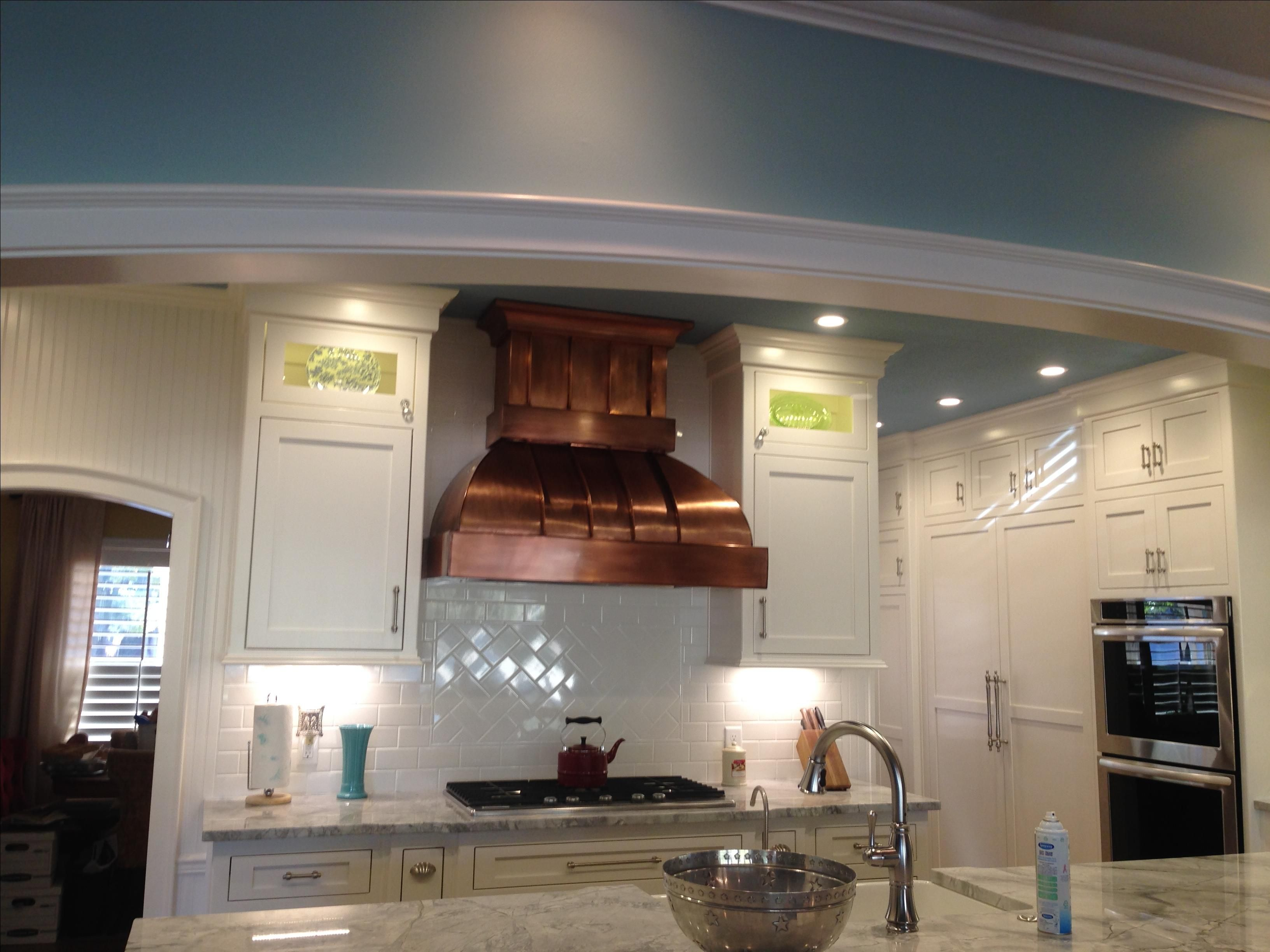 Hand Crafted Custom Copper Standing Seam Range Hood By
