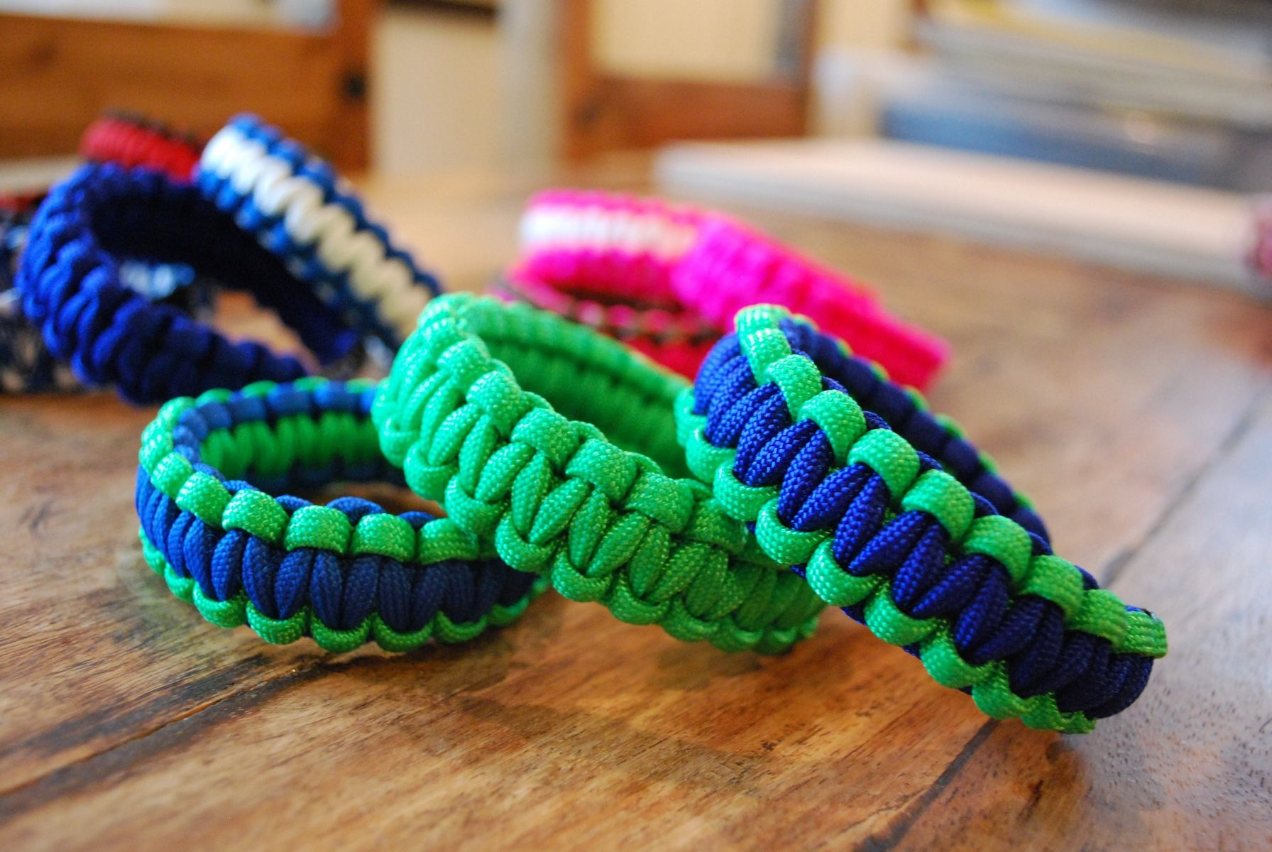 crafted paracord bracelets by olallaberry farm quilt