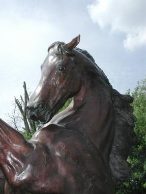 Custom Made Cast Bronze Giant Rearing Horse