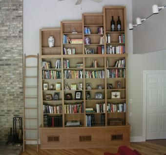 Custom Made Tall Stack Cherry Bookcases