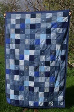 Custom Made Recycled Jean & Corduroy Lap Quilt